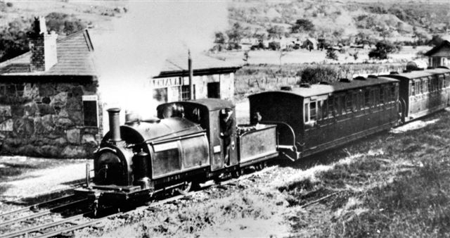 Palmerston and train at Waunfawr in 1923